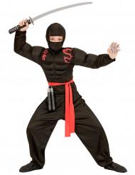 Costume Ninja muscoloso nero ragazzo