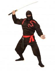 Costume ninja muscoloso nero Adulto