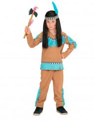 Costume indiano marrone e blu bambino