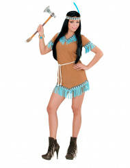 Costume indiana marrone e blu Donna