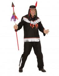 Costume indiano bianco e nero uomo
