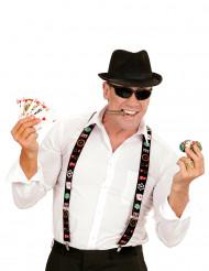Bretelle giocatore di poker per adulto