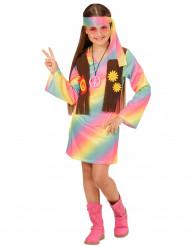 Costume da Hippie colori pastello per bambina