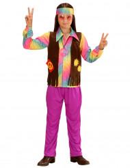 Costume da hippie colorato pastello bambino