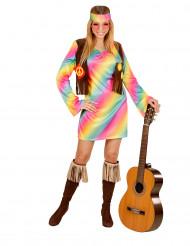 Costume hippie multicolore Donna