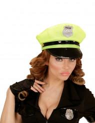 Caschetto polizia giallo adulto