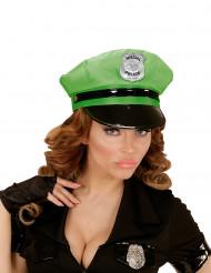 Caschetto polizia verde adulto