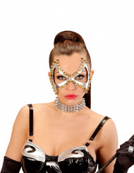 Maschera argento a punte punk per donna