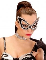 Mascherina veneziana con borchie per donna