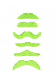 Baffi verdi fluorescenti adulto