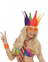 Cappello da giullare arcobaleno per adulto