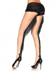 Collants con frange nere cabaret luxe donna