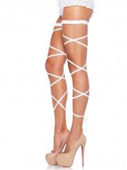 Giarrettiere bianche sexy per donna