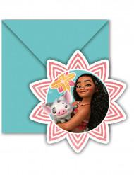 6 cartoncini d'invito + buste Vaiana™