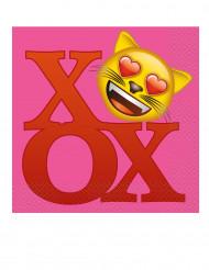 20 tovaglioli di carta Emoji™ 33 x 33 cm