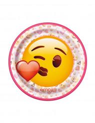 8 Piattini in cartone Emoji™ 17.5 cm