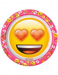 8 Piatti in cartone Emoji™ 22 cm