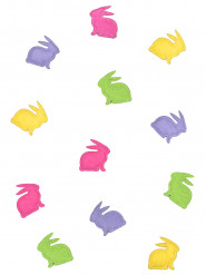 20 coriandoli in pannolenci conigli colorati