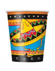 8 Bicchieri in cartone Messico