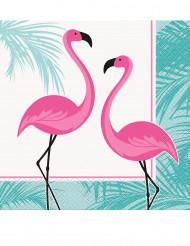 16 tovalgioli di carta fenicottero rosa