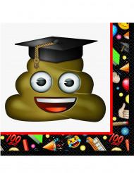 16 tovaglioli di carta Emoji™ laureato