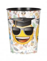 Bicchiere di plastica Emoji™ laureato