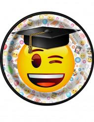 8 piattini di cartone Emoji™
