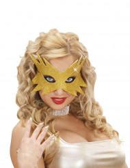 Mascherina stella dorata per adulti