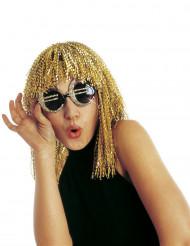 Occhiali euro dorati con paillettes adulto