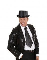 Cravatta nera brillante Adulto
