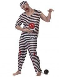 Costume  prigioniero zombie uomo