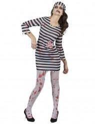 Costume zombie donna prigioniera Halloween