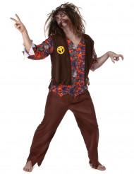 Costume da zombie hippie uomo