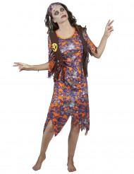 Costume zombie hippie donna