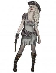 Costume da pirata fantasma grigio donna