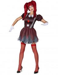 Costume bambola spaventosa da donna