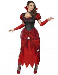 Costume da vampiro con rose bianche donna