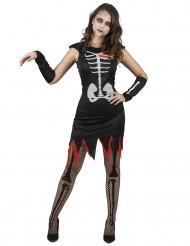 Costume scheletro cuore vivente donna