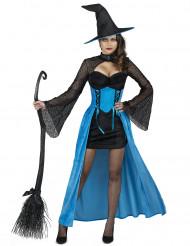 Costume da strega turchese donna
