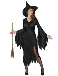 Costume da strega nero sexy donna