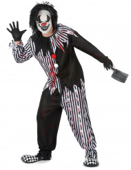 Costume clown psicopatico uomo