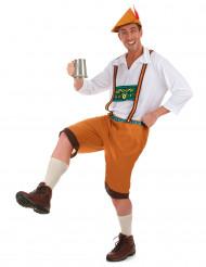 Costume bavarese marrone per uomo