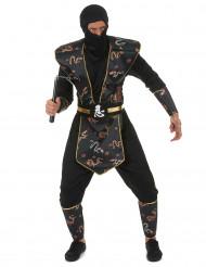 Costume da ninja dragone d'oro per uomo