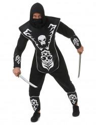 Costume ninja scheletro uomo