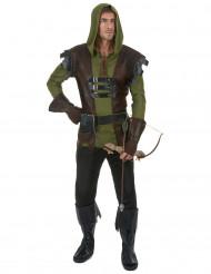 Costume da arciere verde per uomo