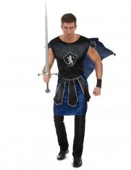 Costume da cavaliere con stemma leonino per uomo