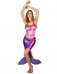 Costume da sirena rosa per donna