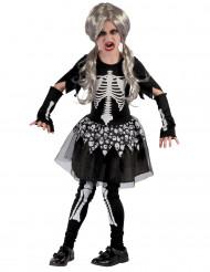 Costume da scheletro in tutù per bambina
