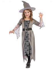Costume da strega grigia con nuvole per bambina - Halloween