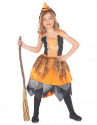 Costume da strega con ragnatele per bambina Halloween